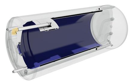 Ηλιακος θερμοσιφωνας NOBEL Aelios Glass 120lt 2m² ALS 2πλης ενεργειας