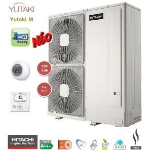 HITACHI Yutaki M monobloc Αντλίες θερμότητας μεσαίων θερμοκρασιών (60°C) ψύξη & θέρμανση με υδραυλικό πακέτο