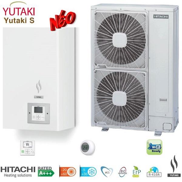 HITACHI Yutaki S split Αντλίες θερμότητας μεσαίων θερμοκρασιών (60°C) ψύξη & θέρμανση με υδραυλικό πακέτο
