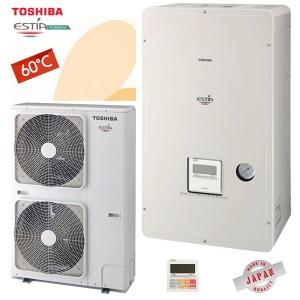 TOSHIBA Estia Powerful split Αντλίες θερμότητας μεσαίων θερμοκρασιών (60°C) ψύξη & θέρμανση με υδραυλικό πακέτο
