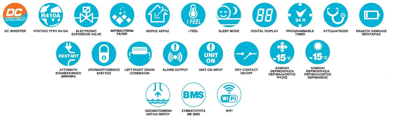Κλιματιστικο οροφης δαπεδου Airwell AWSI FBD018 N11 AWAU YLD018 H11