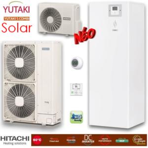Hitachi Yutaki S Combi Solar split ZNX Αντλίες θερμότητας μεσαίων θερμοκρασιών (60°C) ψύξη & θέρμανση με υδραυλικό πακέτο