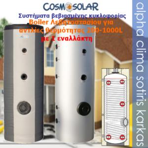 Boiler-1 εναλλάκτης 200~1000L