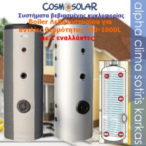 Boiler-2 εναλλάκτες 200~1000L