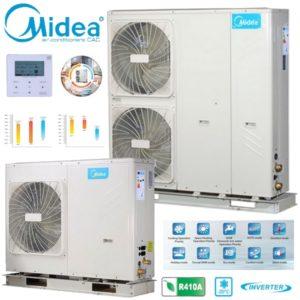 Midea M-Thermal monobloc Αντλίες θερμότητας μεσαίων θερμοκρασιών (60°C) ψύξη & θέρμανση με υδραυλικό πακέτο