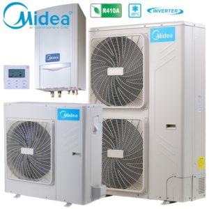 Midea M-Thermal split Αντλίες θερμότητας μεσαίων θερμοκρασιών (60°C) ψύξη & θέρμανση με υδραυλικό πακέτο