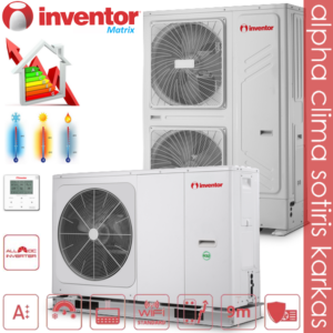 Inventor Matrix monobloc Αντλίες θερμότητας μεσαίων θερμοκρασιών (65°C) ψύξη & θέρμανση Wi-Fi με υδραυλικό πακέτο